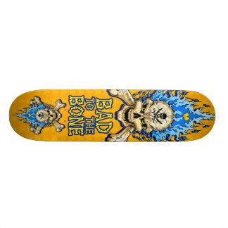 Bad to the Bone Skull Custom Skate Board
