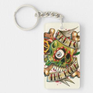 Bad to the bone skullies! keychain