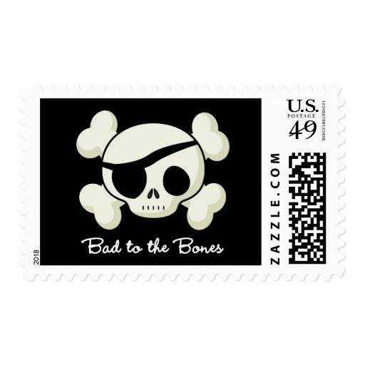 Bad To The Bones Stamp
