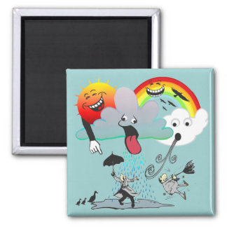 Bad Weather 2 Inch Square Magnet
