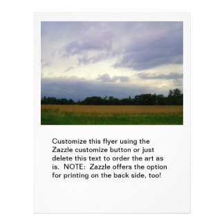 "Bad weather approaching farm fields storm clouds 8.5"" x 11"" flyer"