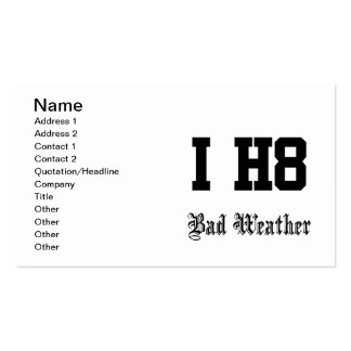 Bad weather business card