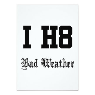 Bad weather 5x7 paper invitation card
