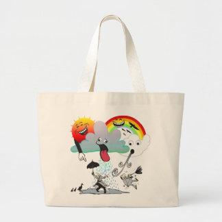 Bad Weather Large Tote Bag