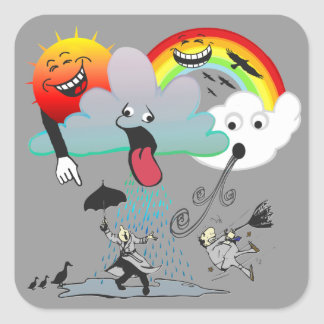 Bad Weather Square Sticker
