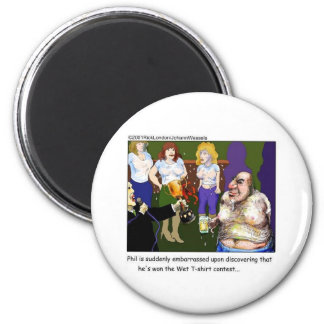 Bad Wet Tee Contest Funny Cartoon Gifts & Tees Fridge Magnet