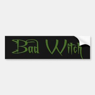 Bad Witch Car Bumper Sticker