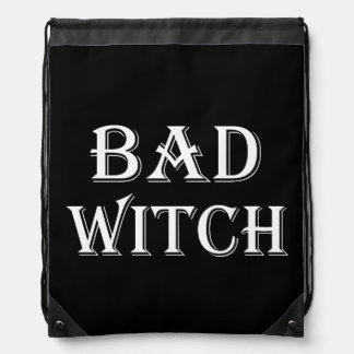 Bad Witch Drawstring Backpack