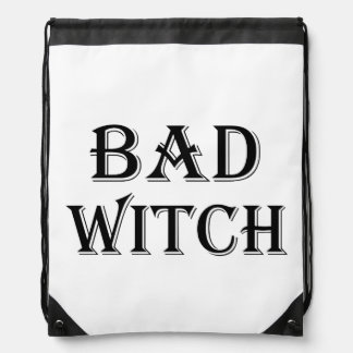 Bad Witch Drawstring Bag