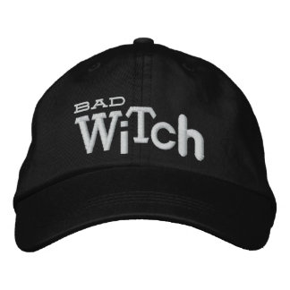 BAD WITCH Eclectic Style Halloween Embroidery Hat Embroidered Hats