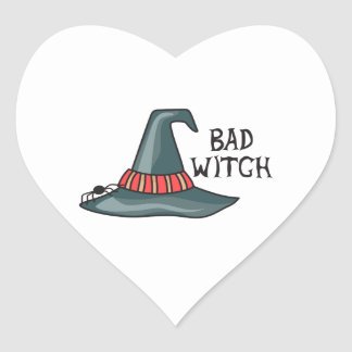 BAD WITCH HEART STICKER