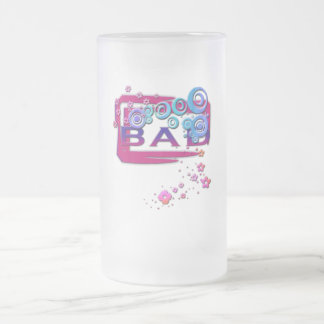 Bad Word Frosted Glass Beer Mug
