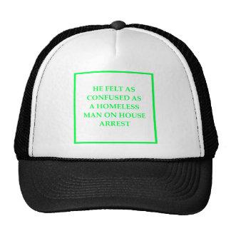 bad writing mesh hats