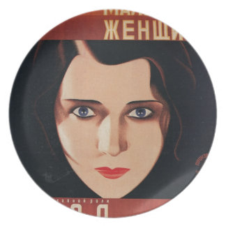 Bad Young Russian Woman Plate