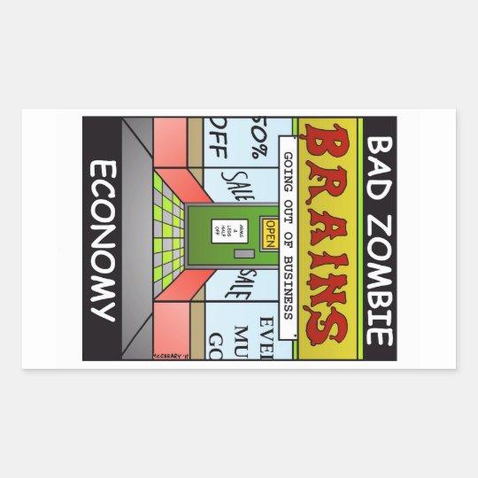 """Bad Zombie Economy"" Sticker"