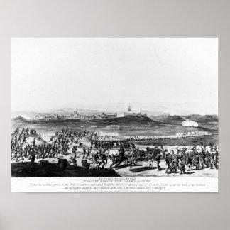 Badajos durante cerco de Charles grabado Póster