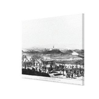 Badajos During Siege of  engraved Charles Canvas Print
