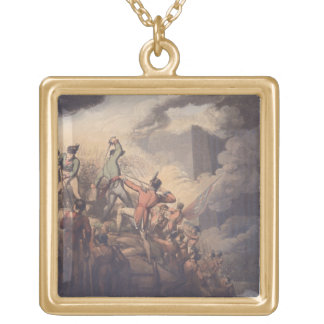 Badajoz, 6th April 1812, from 'The Victories of th Square Pendant Necklace
