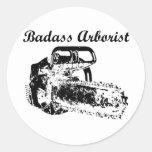 Badass Arborist - Chainsaw Classic Round Sticker