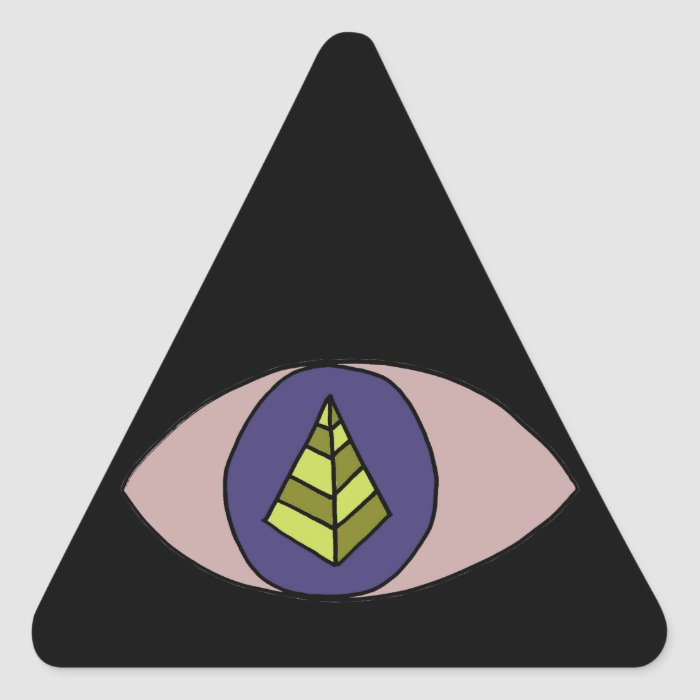 Badass Black Triangle Triangle Sticker