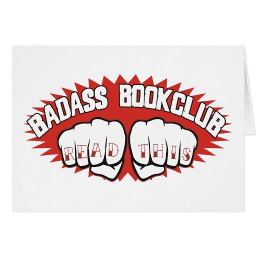 Badass Bookclub Greeting Card