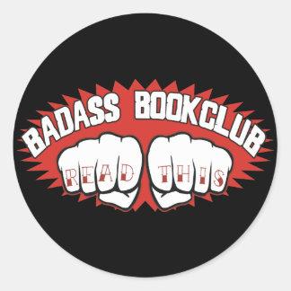 Badass Bookclub Round Sticker