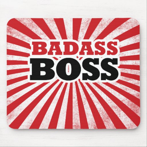 Badass Boss divertido Mousepad