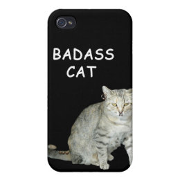 Badass Cat I-Phone 3 Case