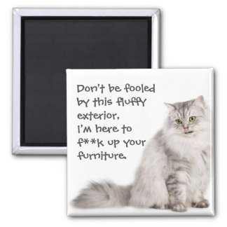 Badass Cats 2 Inch Square Magnet