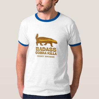 Badass Cobra Killa Honey Badger - Vintage Ringer T-Shirt