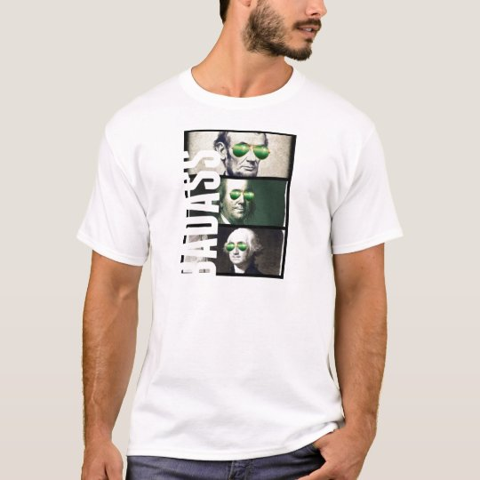 Badass collage of Abraham Lincoln, Georges Washing T-Shirt