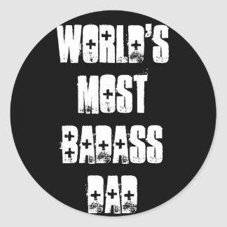Badass Dad Classic Round Sticker