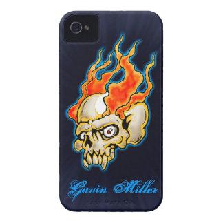 Badass Flaming Half Skull design iPhone 4 Case