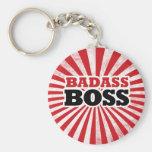 Badass Funny Boss Basic Round Button Keychain