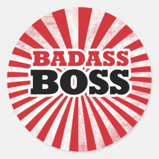 Badass Funny Boss Classic Round Sticker
