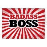 Badass Funny Boss Greeting Card