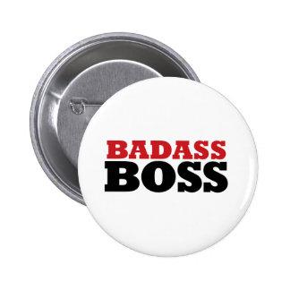 Badass Funny Boss Pinback Button