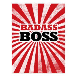 Badass Funny Boss Postcard
