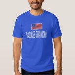 BADASS GRANDPA American Flag Tee Shirt