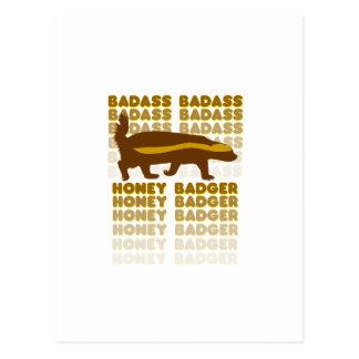 Badass Honey Badger Postcard