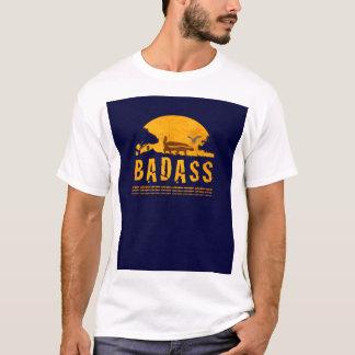 Badass Honey Badger Sunset Vintage Navy Blue T-Shirt