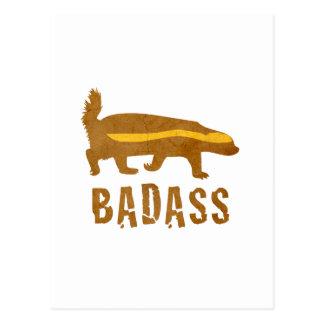 Badass Honey Badger - Vintage Postcard