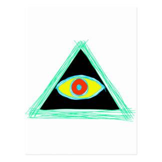 Badass Illuminati Postcard