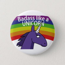 Badass like a unicorn! button