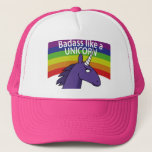 "Badass Like A Unicorn! Trucker Hat<br><div class=""desc"">You too can be BALAU (badass like a unicorn) with this hat!  *Rainbow unicorn horn powers not actually included with purchase of hat.</div>"