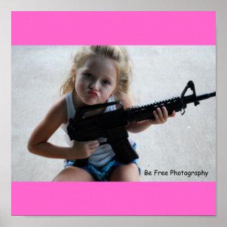 Badass Little Girl Print