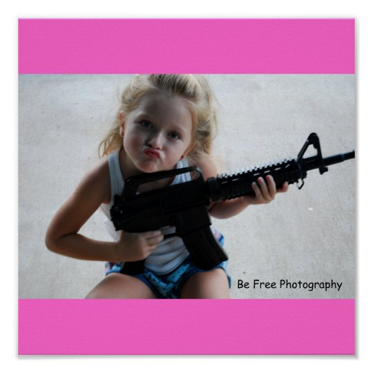 Badass Little Girl Poster