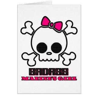 Badass Marine's Girl Greeting Card