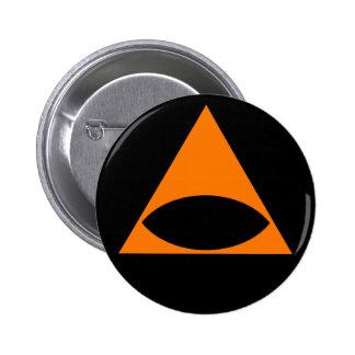 Badass Orange Illuminati Pinback Buttons