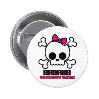Badass Sailor's Girl Pinback Buttons